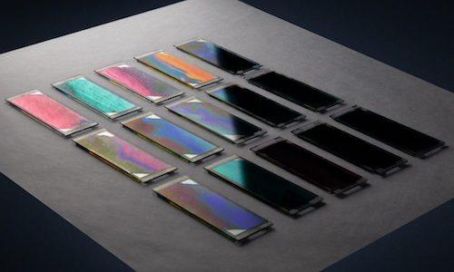 Gradient-based solar cell samples.